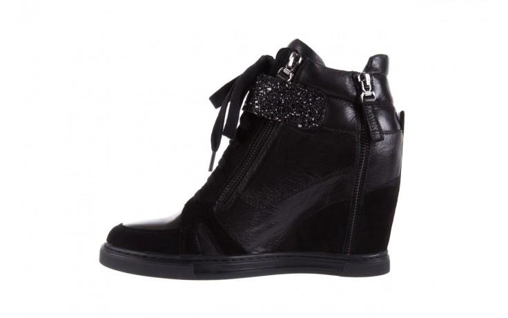 Sneakersy bayla-144 ps508h-75-1n black 17, czarny, skóra naturalna 2