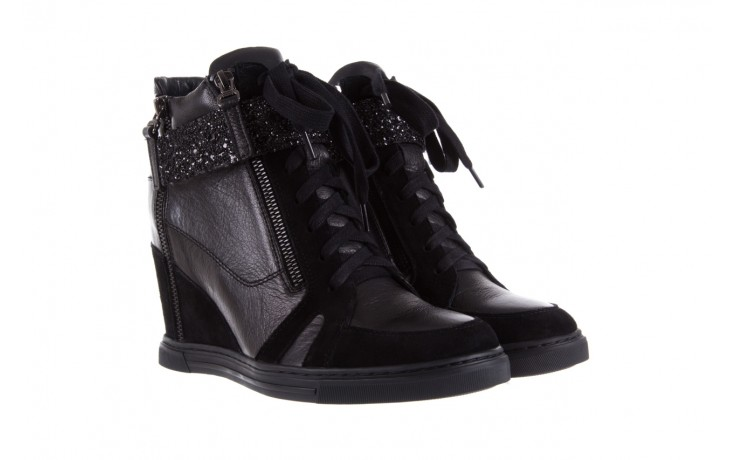 Sneakersy bayla-144 ps508h-75-1n black 17, czarny, skóra naturalna 1