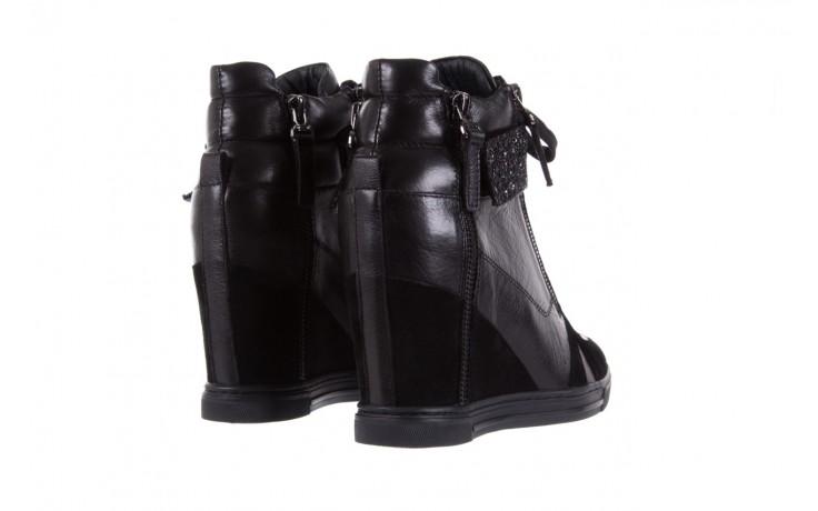 Sneakersy bayla-144 ps508h-75-1n black 17, czarny, skóra naturalna 3