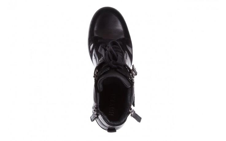Sneakersy bayla-144 ps508h-75-1n black 17, czarny, skóra naturalna 4