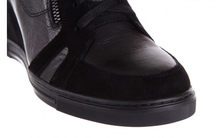 Sneakersy bayla-144 ps508h-75-1n black 17, czarny, skóra naturalna 5