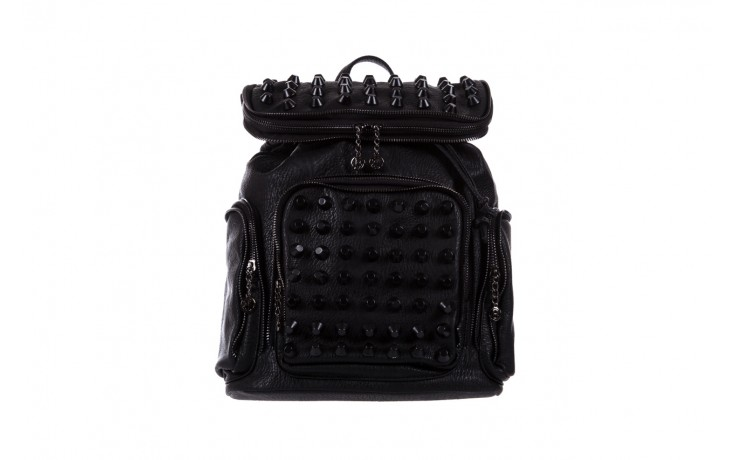 Plecak bayla-150 plecak s16-277 black, czarny, skóra ekologiczna  - akcesoria - kobieta