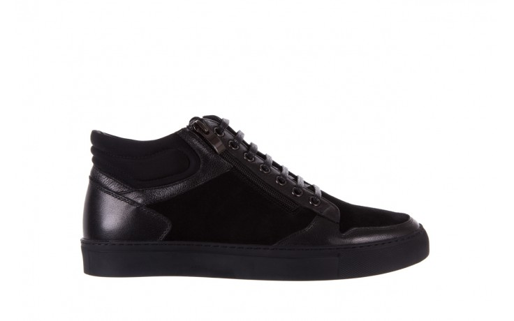 Trampki bayla-151 d151429-50a black, czarny, skóra naturalna  - bayla exclusive - trendy - mężczyzna