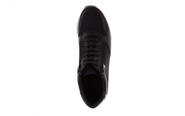 Trampki bayla-151 d151431-6a black, czarny, skóra naturalna/ neopren  - trzewiki - dla niego - sale 4