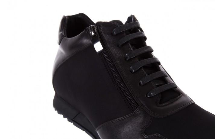 Trampki bayla-151 d151431-6a black, czarny, skóra naturalna/ neopren  - trzewiki - dla niego - sale 5