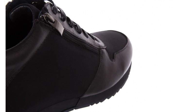 Trampki bayla-151 d151431-6a black, czarny, skóra naturalna/ neopren  - trzewiki - dla niego - sale 6