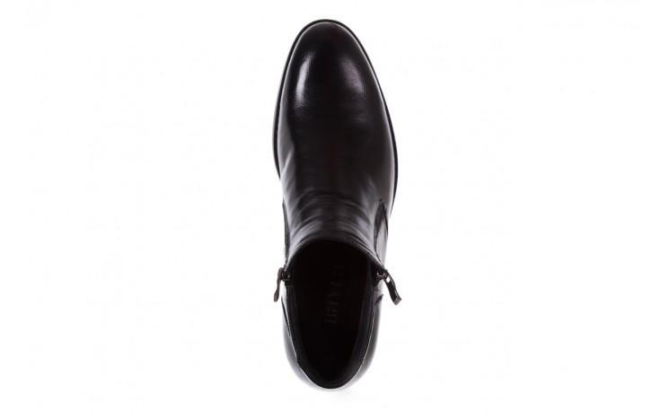 Trzewiki bayla-151 t33yd10-3a black, czarny, skóra naturalna  - wizytowe - trzewiki - buty męskie - mężczyzna 4