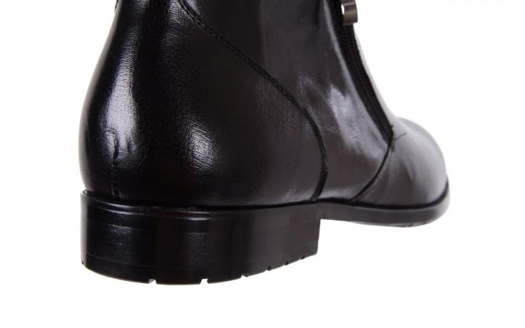 Trzewiki bayla-151 t33yd10-3a black, czarny, skóra naturalna  - wizytowe - trzewiki - buty męskie - mężczyzna 5