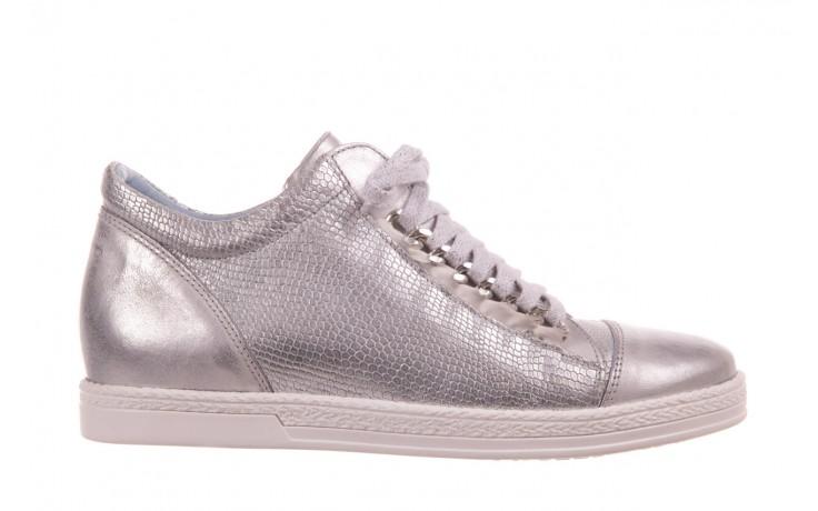 Trampki bayla-154 w-742a srebro, skóra naturalna  - trampki - buty damskie - kobieta