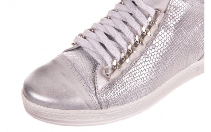 Trampki bayla-154 w-742a srebro, skóra naturalna  - trampki - buty damskie - kobieta 4