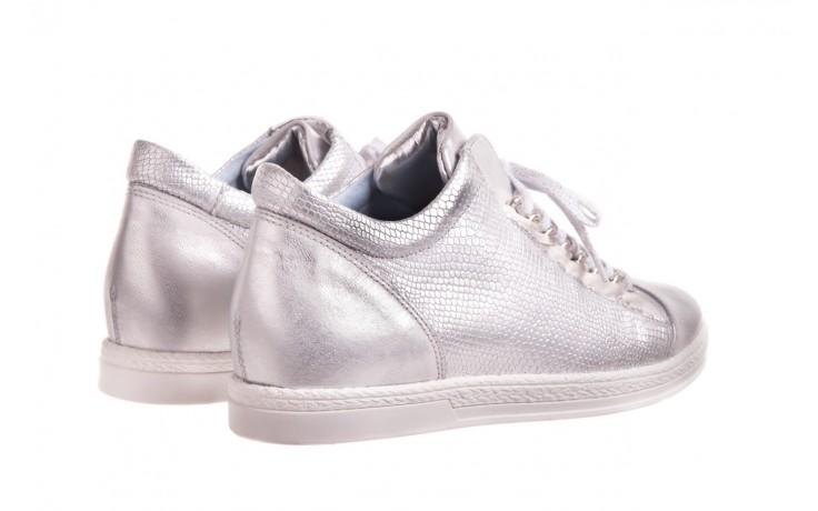 Trampki bayla-154 w-742a srebro, skóra naturalna  - trampki - buty damskie - kobieta 2