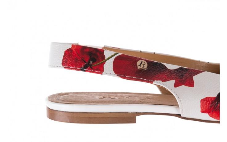 Sandały bayla-156 1794 biały maki, skóra naturalna 6