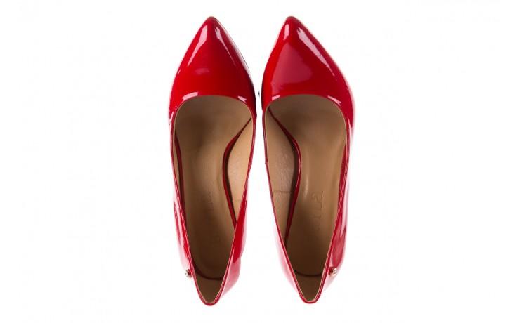 Czółenka bayla-156 2534 czerwony, skóra naturalna lakierowana  - bayla - nasze marki 4