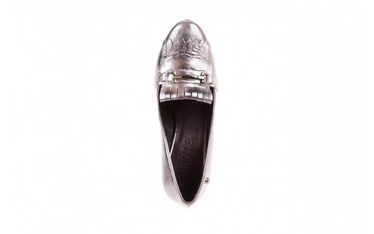 Czółenka bayla-156 2701 srebro, skóra naturalna 6