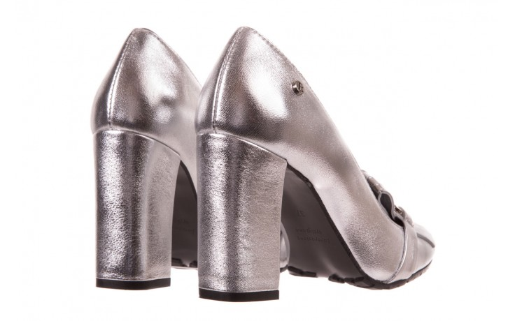 Czółenka bayla-156 2701 srebro, skóra naturalna 3