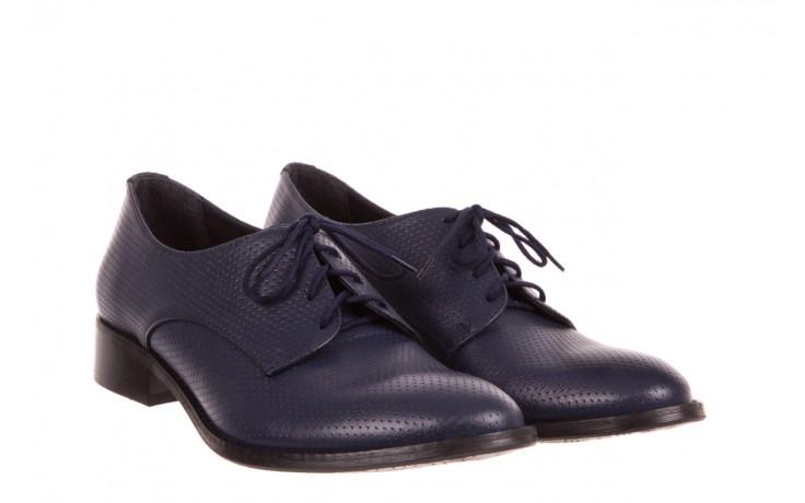 Półbuty bayla-156 3301 mustang oceano ł7, granat, skóra naturalna  - sznurowane - półbuty - buty damskie - kobieta 1