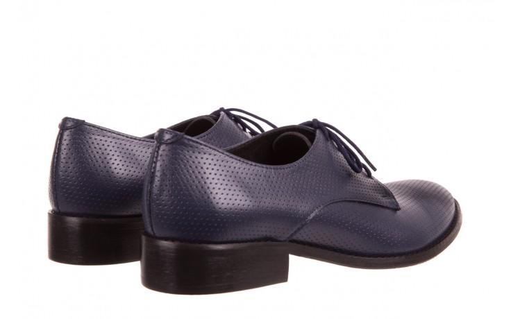 Półbuty bayla-156 3301 mustang oceano ł7, granat, skóra naturalna  - sznurowane - półbuty - buty damskie - kobieta 3