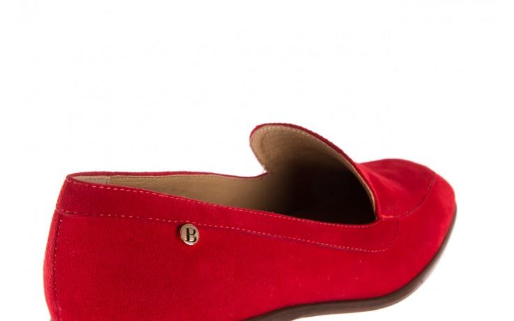 Półbuty bayla-156 3320 czerwony welur, skóra naturalna  - bayla - nasze marki 8