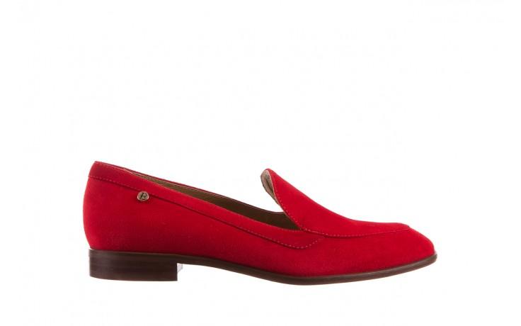 Półbuty bayla-156 3320 czerwony welur, skóra naturalna  - bayla - nasze marki
