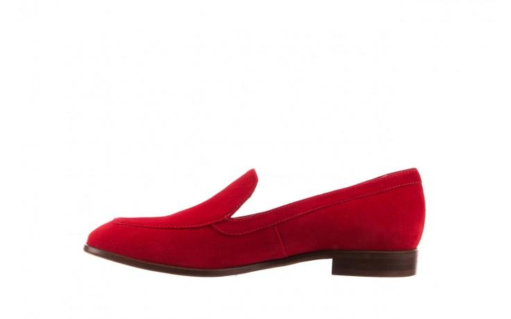 Półbuty bayla-156 3320 czerwony welur, skóra naturalna  - bayla - nasze marki 4