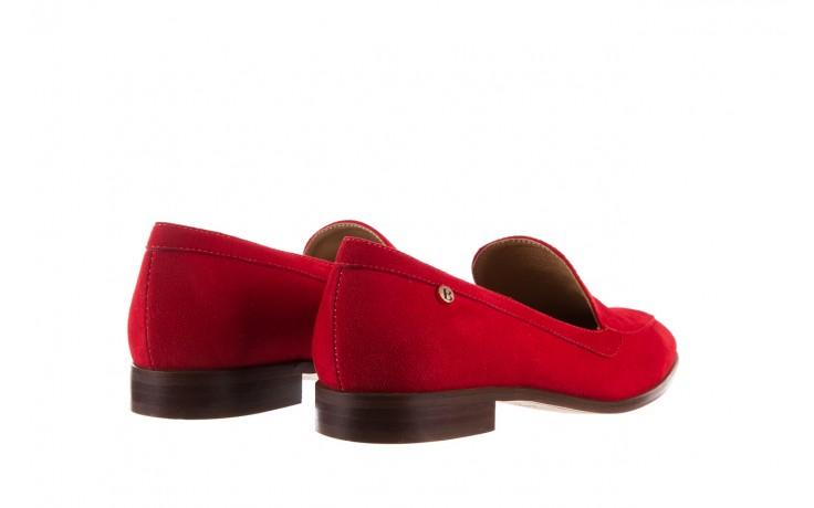 Półbuty bayla-156 3320 czerwony welur, skóra naturalna  - bayla - nasze marki 5