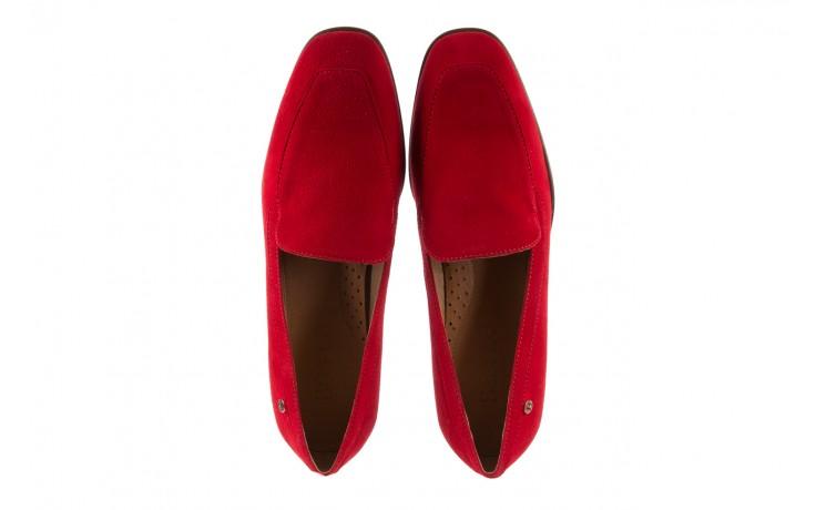 Półbuty bayla-156 3320 czerwony welur, skóra naturalna  - bayla - nasze marki 6
