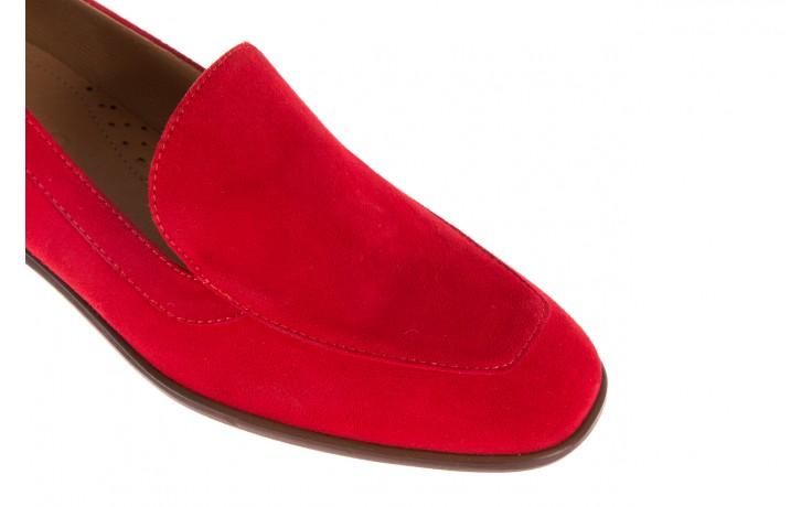 Półbuty bayla-156 3320 czerwony welur, skóra naturalna  - bayla - nasze marki 7