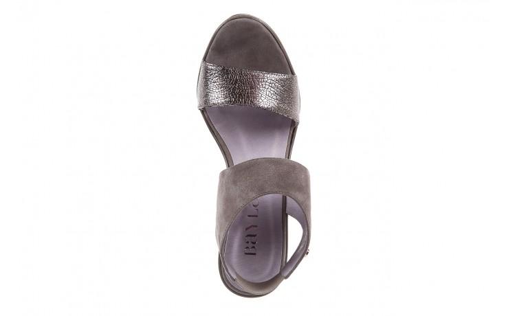 Sandały bayla-157 b007-127-b szary, skóra naturalna 4