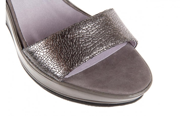 Sandały bayla-157 b007-127-b szary, skóra naturalna 5