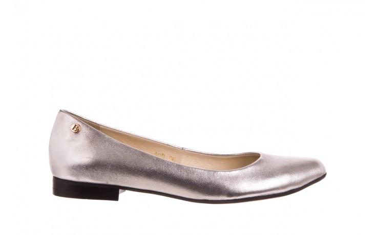 Baleriny bayla-160 100a srebrny, skóa naturalna  - ślubne - baleriny - buty damskie - kobieta