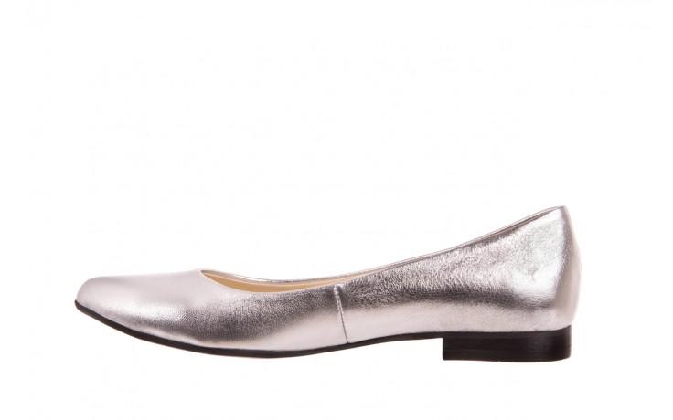 Baleriny bayla-160 100a srebrny, skóa naturalna  - ślubne - baleriny - buty damskie - kobieta 2