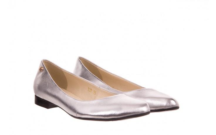 Baleriny bayla-160 100a srebrny, skóa naturalna  - ślubne - baleriny - buty damskie - kobieta 1