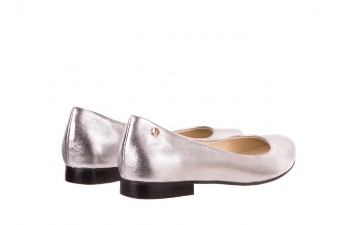 Baleriny bayla-160 100a srebrny, skóa naturalna  - ślubne - baleriny - buty damskie - kobieta 3