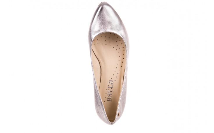 Baleriny bayla-160 100a srebrny, skóa naturalna  - ślubne - baleriny - buty damskie - kobieta 4