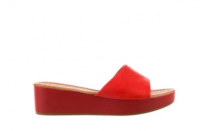 Klapki bayla-161 001-10 red, czerwony, skóra naturalna  - bayla - nasze marki