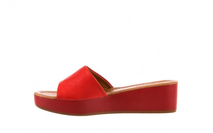 Klapki bayla-161 001-10 red, czerwony, skóra naturalna  - bayla - nasze marki 2