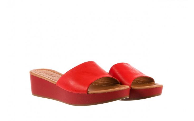 Klapki bayla-161 001-10 red, czerwony, skóra naturalna  - bayla - nasze marki 1