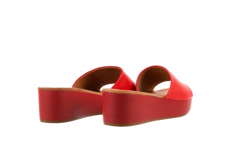 Klapki bayla-161 001-10 red, czerwony, skóra naturalna  - bayla - nasze marki 3