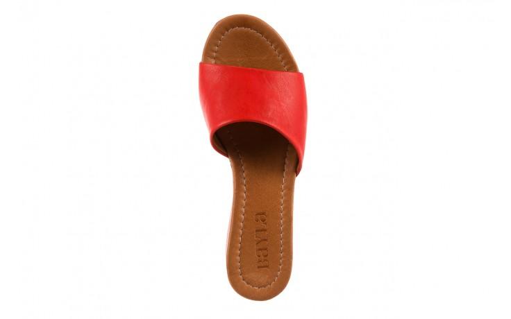 Klapki bayla-161 001-10 red, czerwony, skóra naturalna  - bayla - nasze marki 4