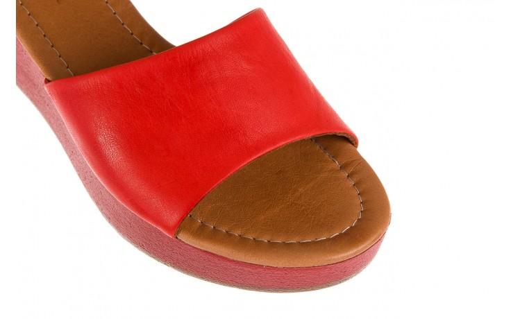 Klapki bayla-161 001-10 red, czerwony, skóra naturalna  - bayla - nasze marki 5