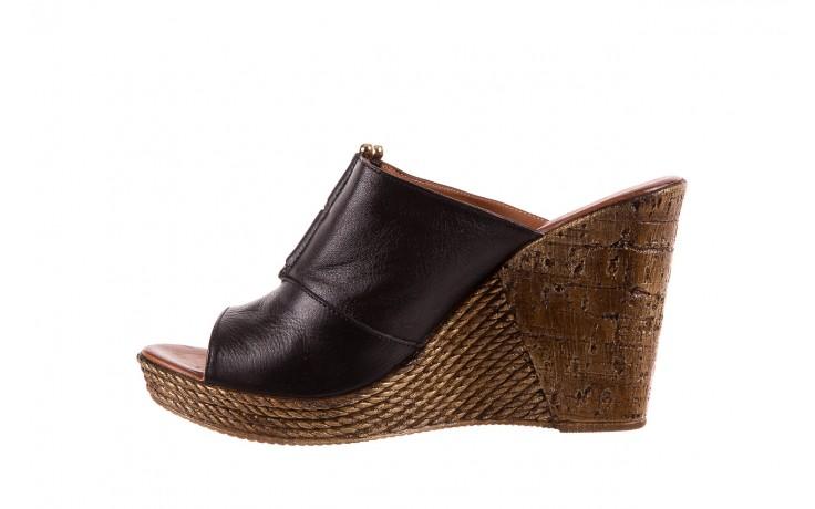 Klapki bayla-161 020-75 black, czarny, skóra naturalna - na koturnie - klapki - buty damskie - kobieta 2