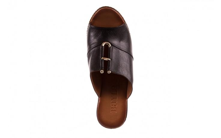 Klapki bayla-161 020-75 black, czarny, skóra naturalna - na koturnie - klapki - buty damskie - kobieta 4