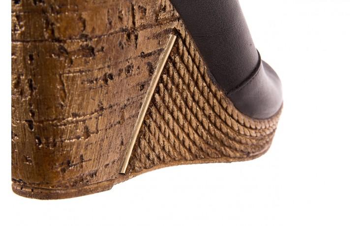 Klapki bayla-161 020-75 black, czarny, skóra naturalna - na koturnie - klapki - buty damskie - kobieta 6
