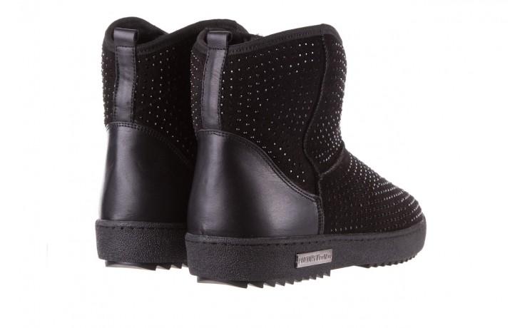 Śniegowce bayla-161 7063 czarne, skóra naturalna zamszowa - skórzane - botki - buty damskie - kobieta 3