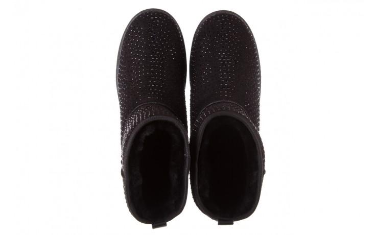 Śniegowce bayla-161 7063 czarne, skóra naturalna zamszowa - skórzane - botki - buty damskie - kobieta 4