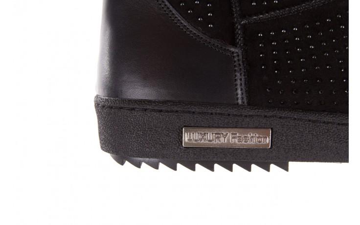 Śniegowce bayla-161 7063 czarne, skóra naturalna zamszowa - skórzane - botki - buty damskie - kobieta 8