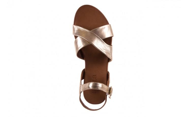 Sandały bayla-163 17-116 gold, złoty, skóra naturalna 4