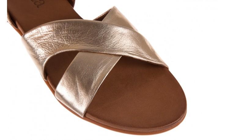 Sandały bayla-163 17-116 gold, złoty, skóra naturalna 5