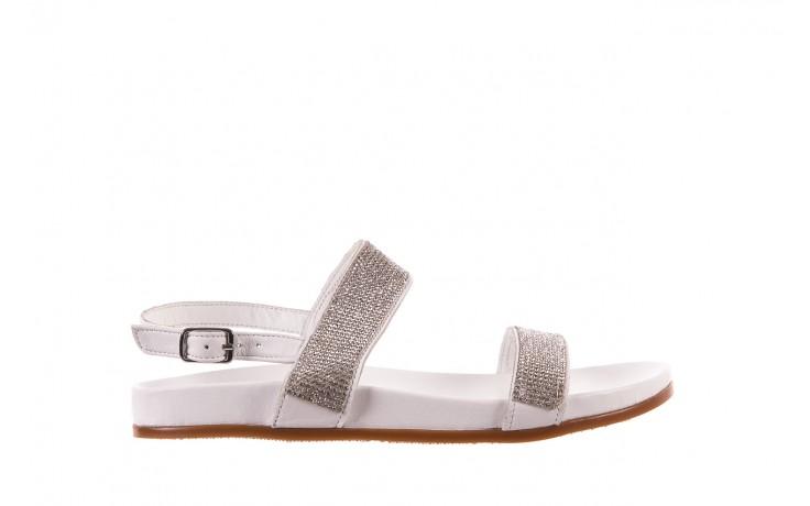 Sandały bayla-163 17-302 riga, biały, skóra naturalna  - sandały - letnie hity cenowe