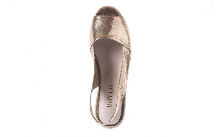 Sandały bayla-163 319-310 386 gold, złoty, skóra naturalna 4
